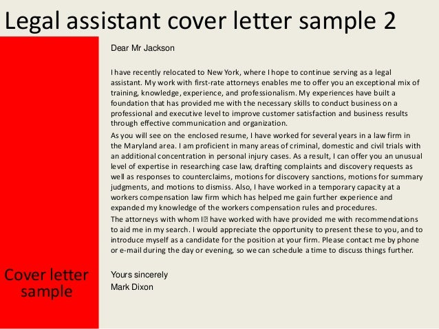cover letters for attorneys