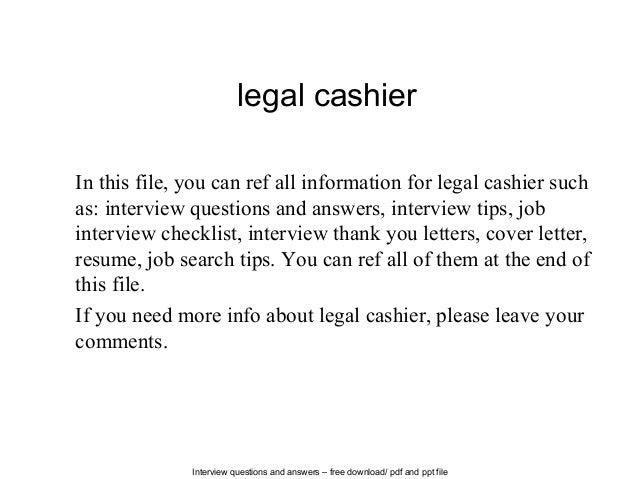 Legal Cashier