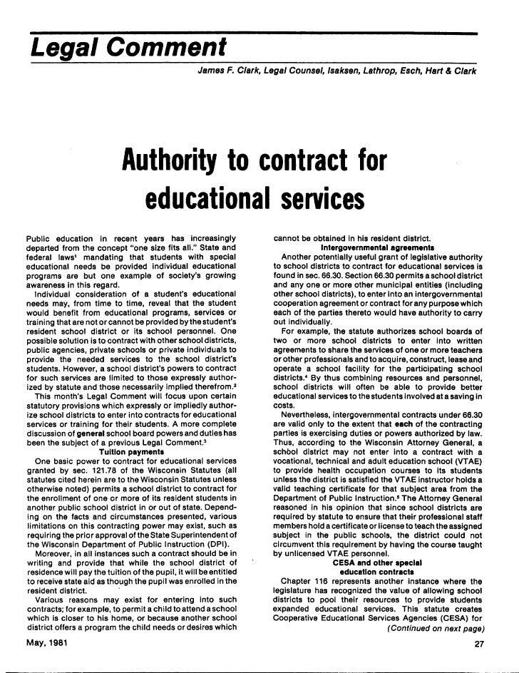 Legal Comment                                                     James F. Clark, Legal Counsel, Isaksen, Lathrop, Esch, H...