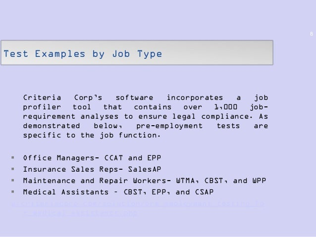 Legal Compliance for Pre-Employment Testing