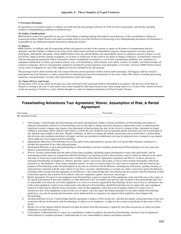 Legal Contracts - Legal contracts