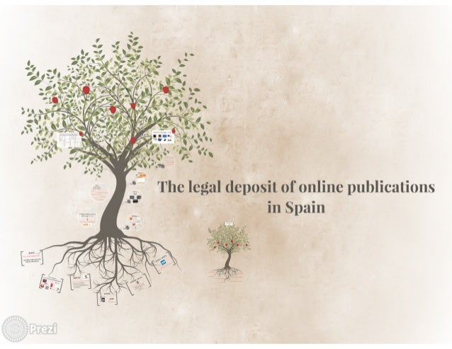 The lei'     tions  ga] deposit of online publica m   in Spa'