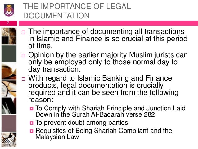 legal documentation in islamic financial institutions Ver vídeo a financial network based on shariah, the legal code  it's the rise of islamic financial institutions — ranging from small community banks  special to cnbc.