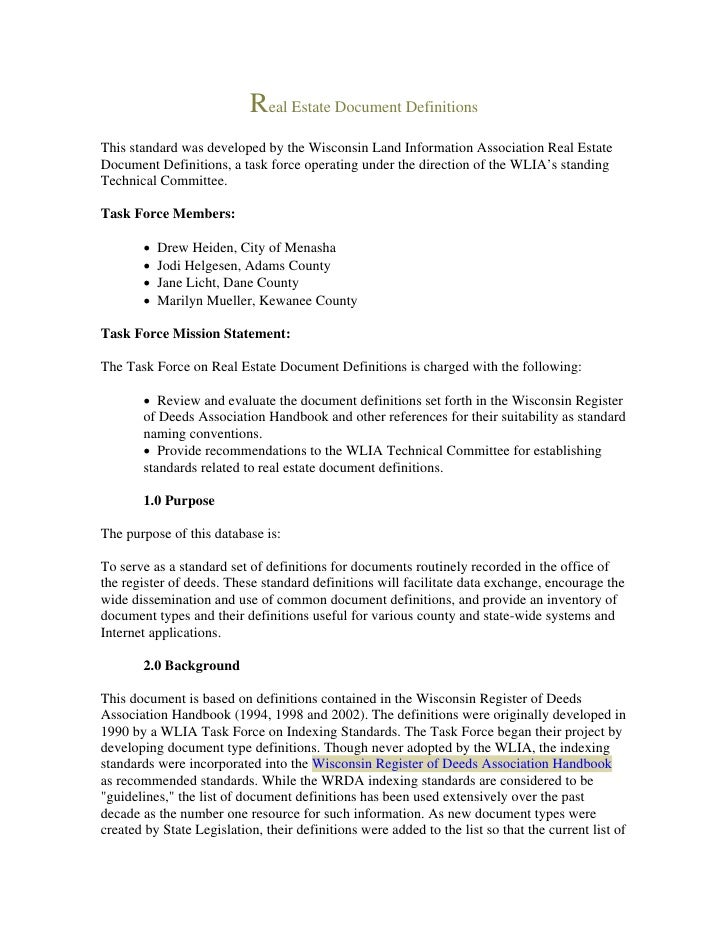 Legal Document Real Estate