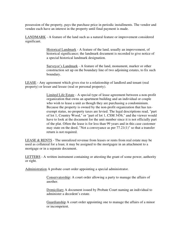 Legal Document Real Estate - Real estate legal documents