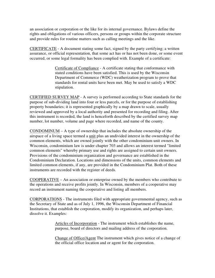 Legal Document Real Estate - Corporation legal documents