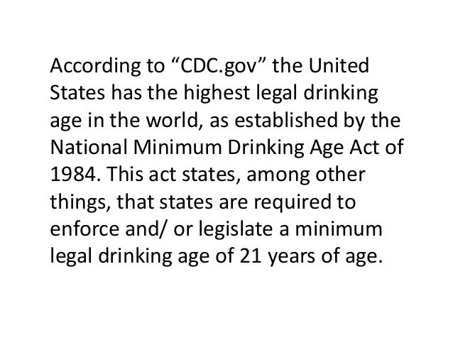 Age Age Drinking Legal Legal Drinking