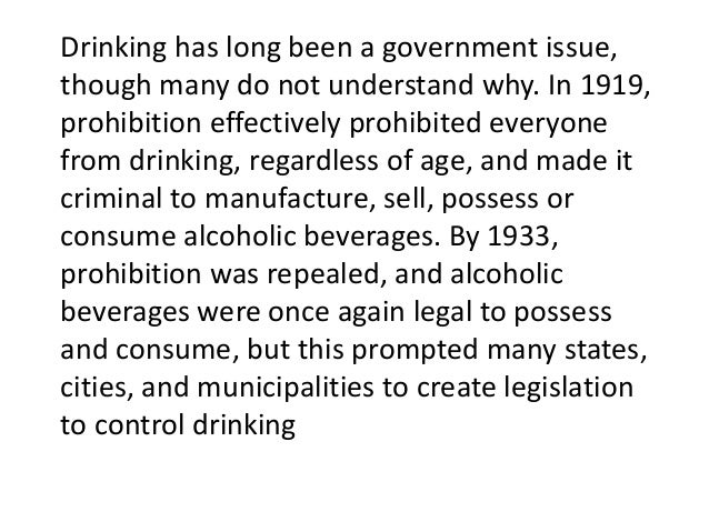 the united states government and the issue of minimum legal drinking age The question of the minimum legal drinking age being 21 is more than someone's bluff to drinking through the ages section 158 of the united states code.