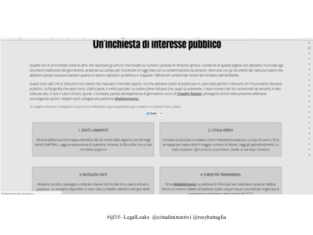 #ijf15- LegalLeaks @cittadinireattivi @rosybattaglia