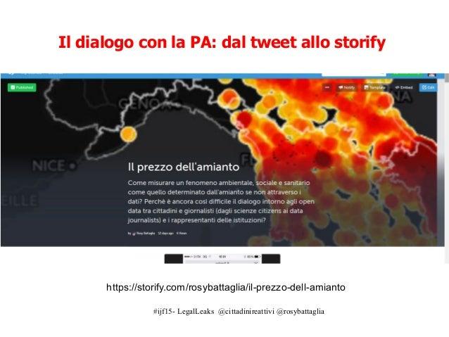 """#ijf15- LegalLeaks @cittadinireattivi @rosybattaglia I dati sull'amianto poco """"open"""": la ricostruzione http://www.wired.it..."""