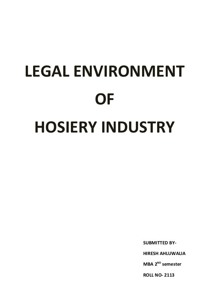 Legal Environment of Business Research Paper Starter