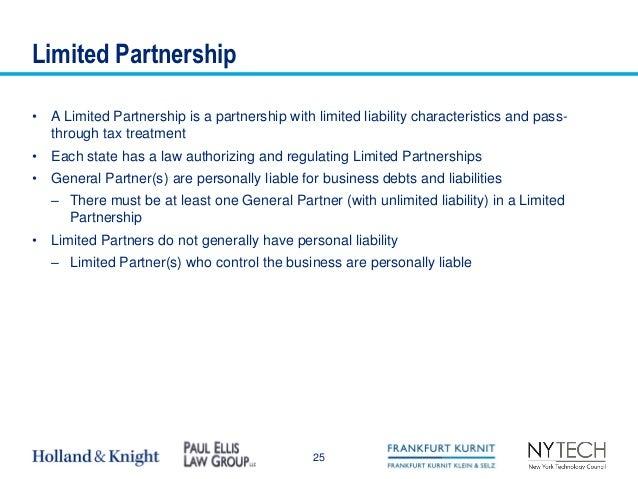 characteristics of limited partnership