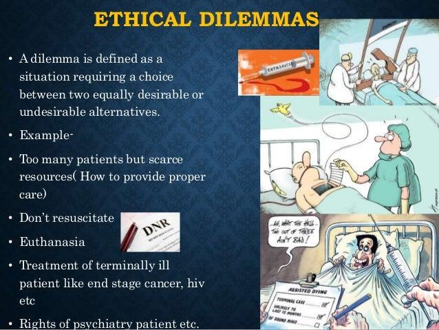 types of ethical dilemmas in nursing