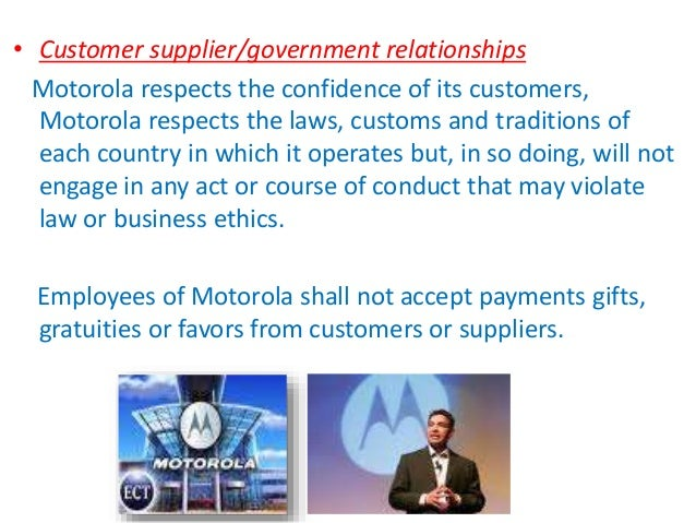 motorola ethics For more information or to contact us, read our entire ethics & privacy policy   motorola put on something of a show at the police academy last.