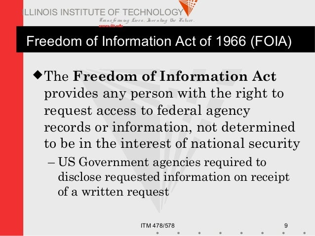 The impact of the freedom of information act of 1966