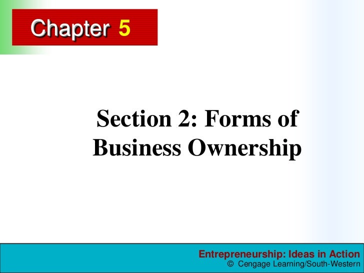 5<br />Section 2: Forms of Business Ownership      <br />
