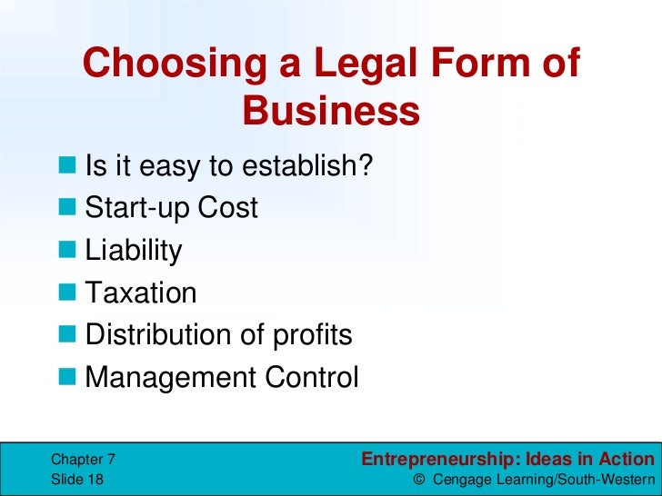 3 Legal Forms of Business – Legal Form