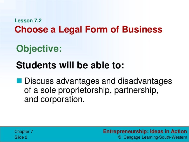 Legal forms of business