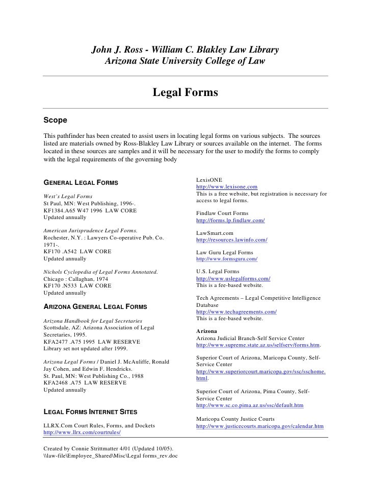 Legal Forms Real Estate