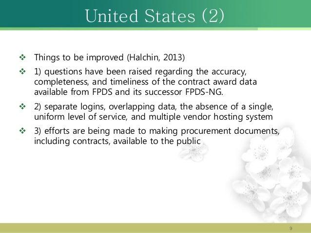 Federal Procurement Data System : Legal foundation of electronic procurement