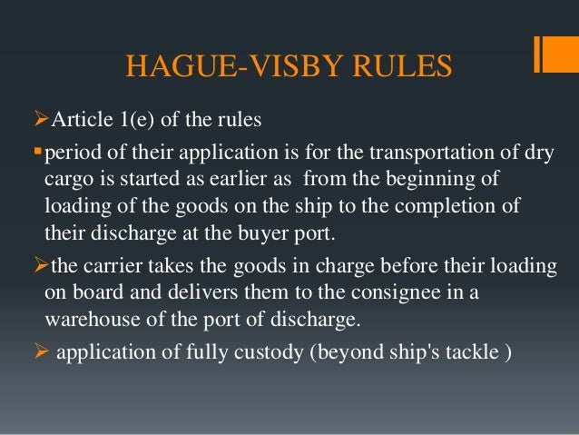 Hague–Visby Rules