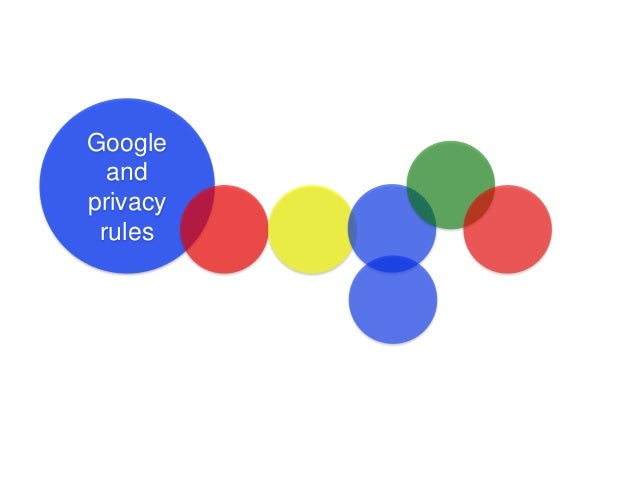 Google and privacy rules
