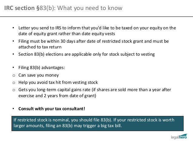 Section 83 b election stock options