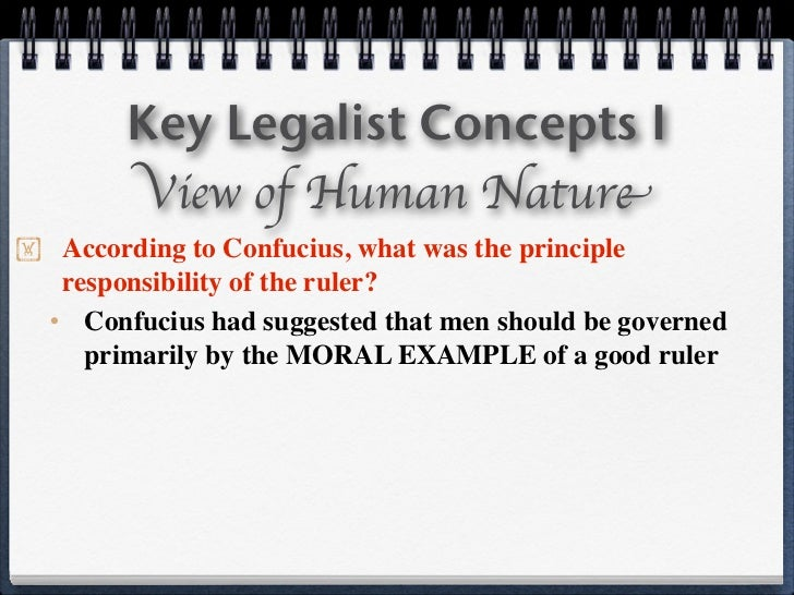 examples of legalism in china