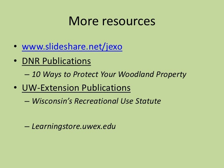 Boundaries and Legal Issues for Wisconsin Woodland Owners