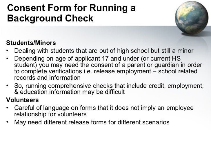 Legal Issues In Student Background Checks April 11 2011