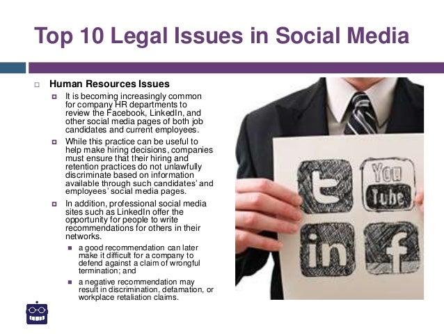 Social Media and its Legal Implications