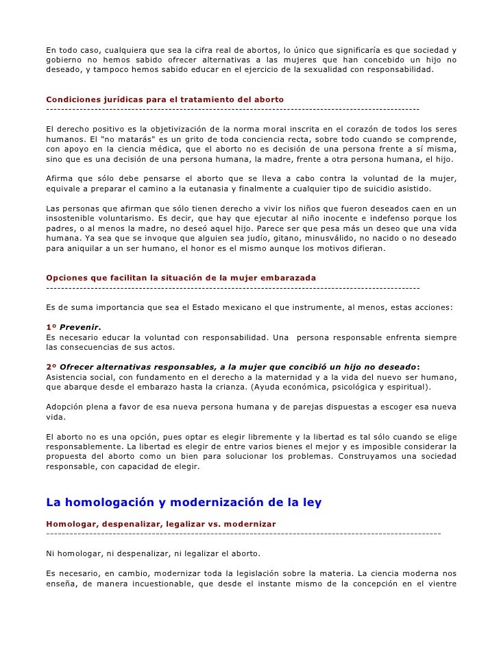 legalizacion del aborto essay Articulo de opinión sobre el aborto - free download as word doc (doc), pdf file (pdf), text file (txt) or read online for free.