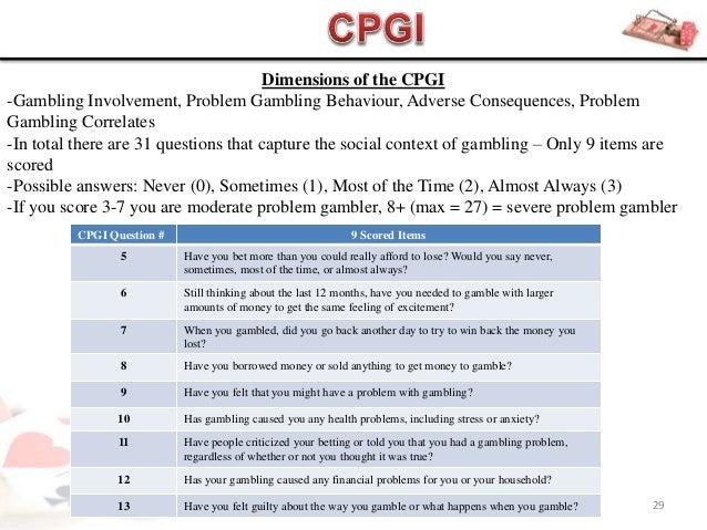 Gambling have i internet problem gambling addiction warning
