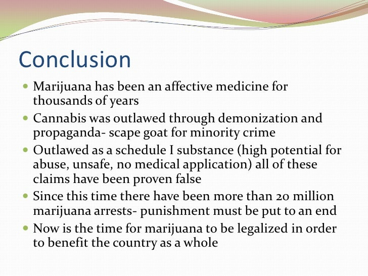 Thesis statement on marijuana being legalize