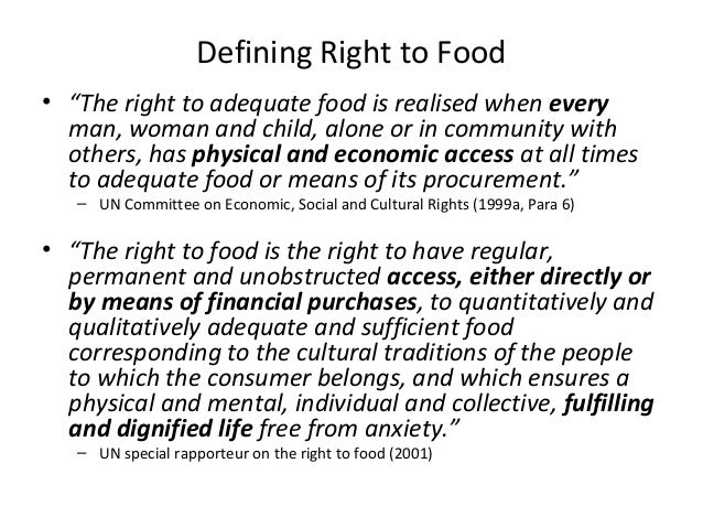 Right to Food and Development