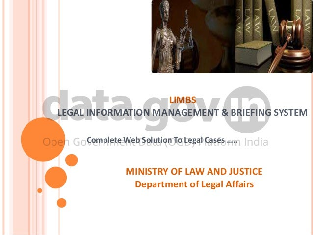 Legal information management and briefing system limbs legal information management briefing system complete web solution to legal cases sciox Gallery