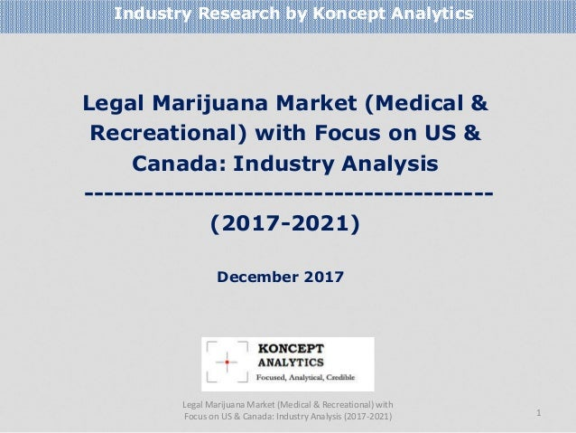 Legal Marijuana Market (Medical & Recreational) with Focus on US & Canada: Industry Analysis -----------------------------...