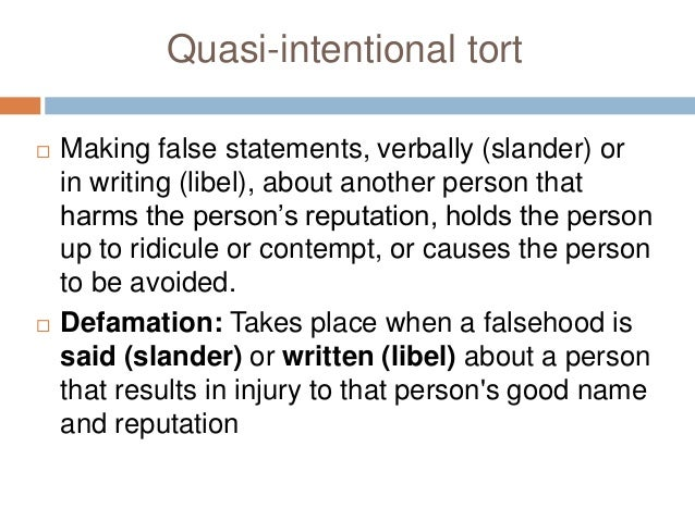 Intentional Torts Essay Sample