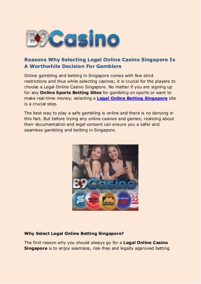 Gambling restrictions singapore perles de baccarat