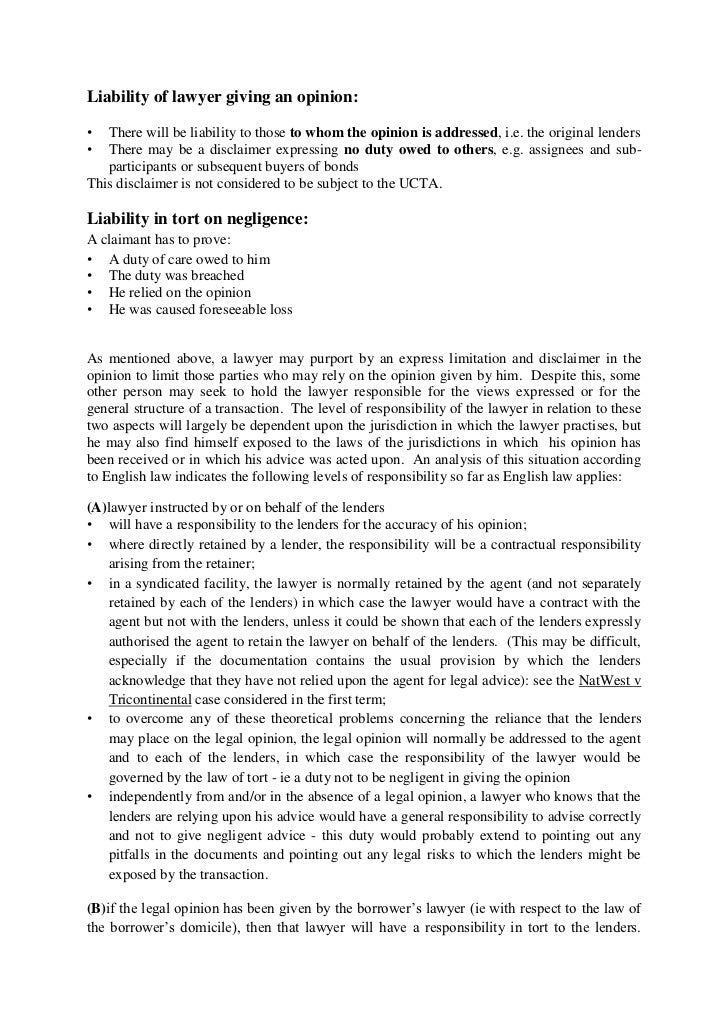 formal legal opinion letter