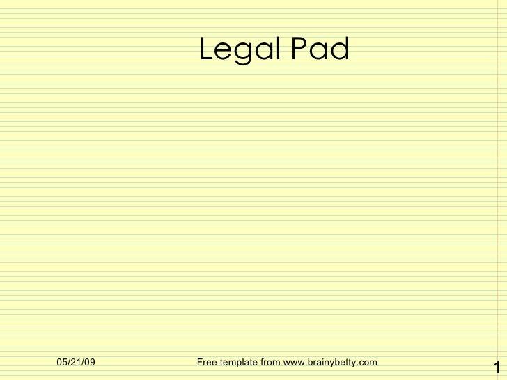 Legal Pad Davis