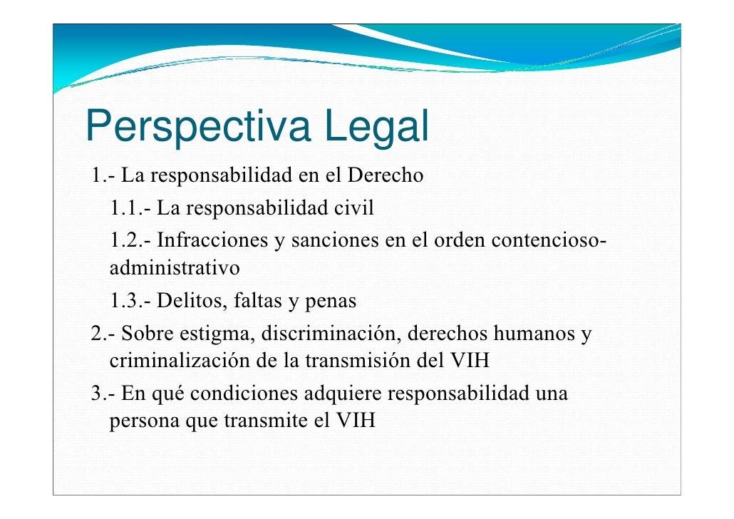 Perspectiva Legal1.- La responsabilidad en el Derecho  1.1.- La responsabilidad civil  1.2.- Infracciones y sanciones en e...