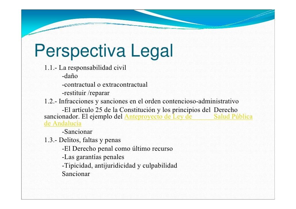 Perspectiva Legal 1.1.- La responsabilidad civil        -daño        -contractual o extracontractual        -restituir /re...