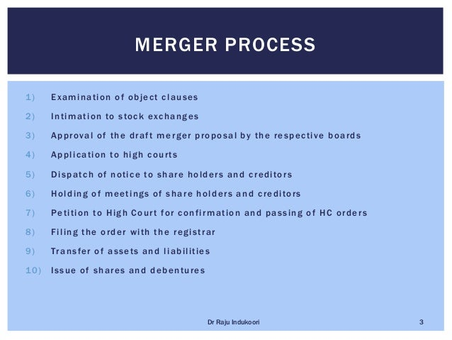 Legal procedure for mergers and Acquisitions Slide 3