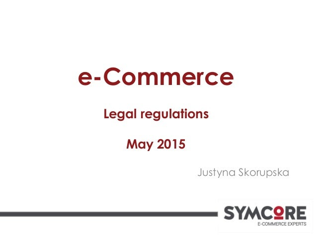 Legal regulation ecommerce_2015