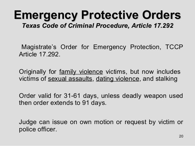 Dating violence texas penal code