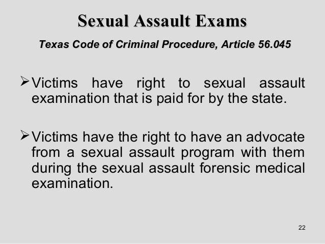... 22. 22 Sexual Assault ...