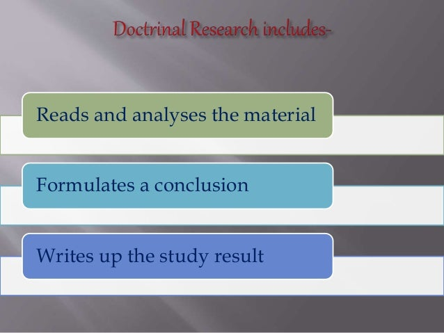 doctrinal research methodology meaning