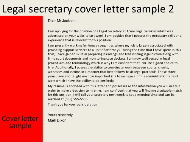 top 5 legal secretary cover letter samples in this file you can ...