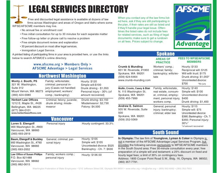 LEGAL SERVICES DIRECTORY                                                                                                  ...